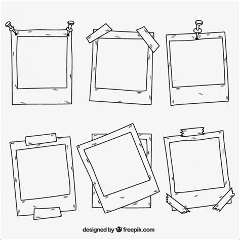 sammlung von polaroid bilderrahmen  der