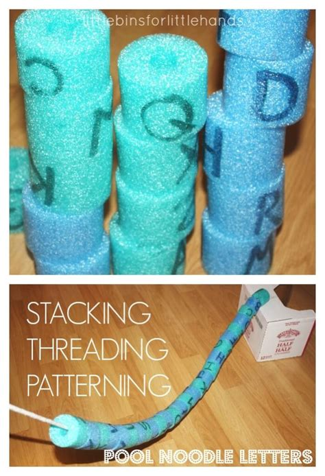 pool noodle letters  early learning alphabet activities