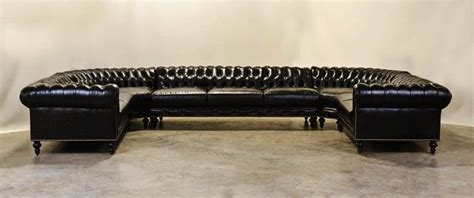 custom made l shaped sofa hand crafted custom u shaped chesterfield sectional with