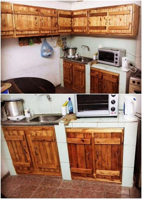 pallet wood kitchen cabinets exciting ways to make useful things with old wooden 291 | Pallet Kitchen Cabinets