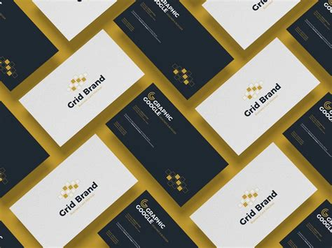 grid business card mockup mockuptree