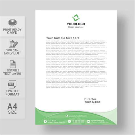 letterhead vector template   print ready