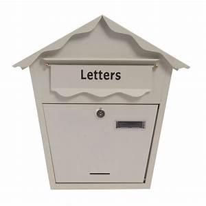 heavy duty epoxy waterproof stylish black post letter box With heavy duty letter box