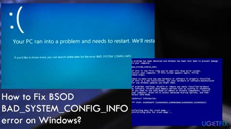 how to fix bsod bad system config info error on windows