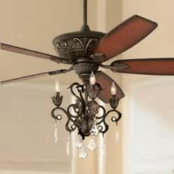 Crystal Chandelier Ceiling Fan Combo by 60 Quot Casa Montego Bronze Chandelier Ceiling Fan 56358