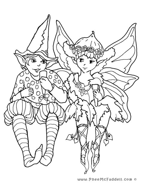 fairy coloring pages  adults coloring home