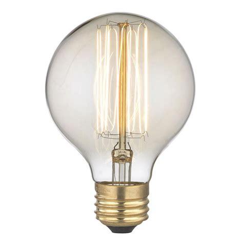 in light globes nostalgic edison carbon filament g25 globe light bulb 60