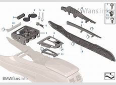 Mounting parts, center console BMW X5 F15 X5 M50dX N57X