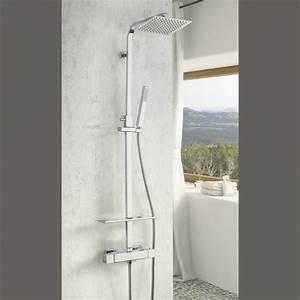 Colonne De Douche Avec Tablette : colonne de douche thermostatique avec tablette huron ~ Melissatoandfro.com Idées de Décoration