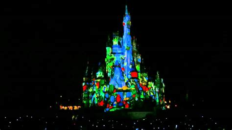 disney world light show disney world 39 s magic kingdom castle light show youtube