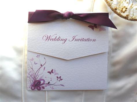 purple  lilac butterfly tri fold weddimore wedding