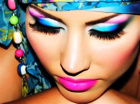 cute pinterest colorful makeup