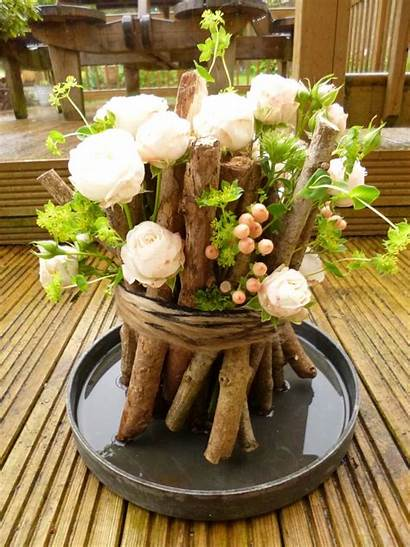 Table Summer Decoration Centerpiece Themed Woodland Twine