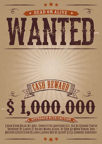 Wanted Vintage Western Poster Stock Illustration ...