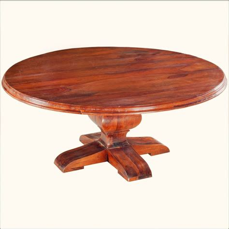 large round pedestal dining table rustic solid wood pedestal base round dining table
