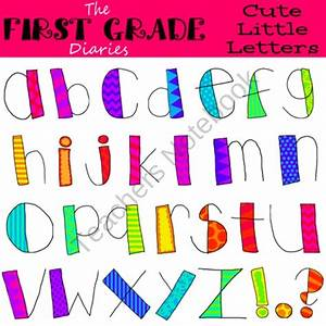 Cute Little Letters Digital Clip Art product from The ...