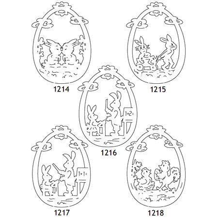 laubsaegen ostern  vorlagen osterhase osterdeko crafts