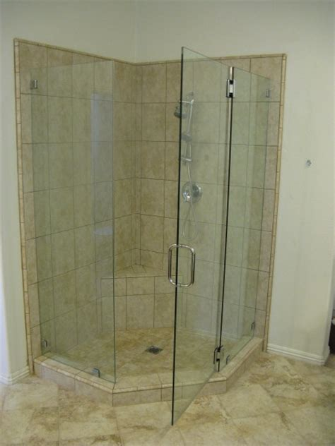 seamless shower doors seamless neo angle shower enclosures