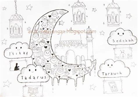anak kesayangan gambar mewarnai tema ramadhan dan syawal