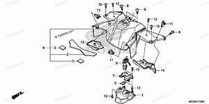 Honda Motorcycle 2012 Oem Parts Diagram For Center Cover