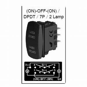 Winch In Winch Out Rocker Switch Dual Led Signal Light For