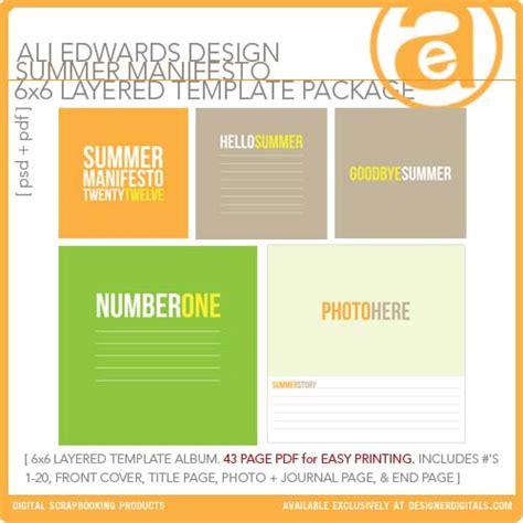manifesto template summer manifesto 6x6 layered template album pdf ali edwards pse ps templates lt300885