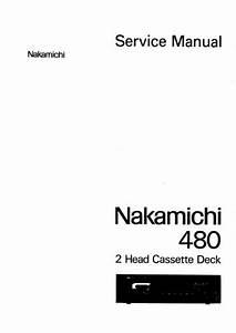 Nakamichi 480 Original Service Manual