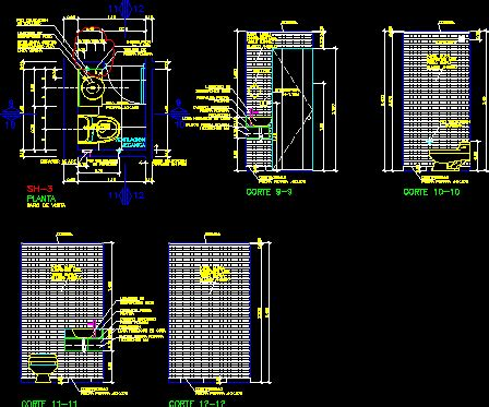 detail  guests bathroom dwg section  autocad