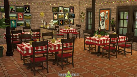 industrial ceiling around the sims 4 custom content pizzeria