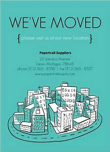 business moving announcements 11437 business moving With business moving postcards announcement