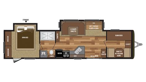 2018 Keystone Springdale 38bh Floor Plan Travel Trailer