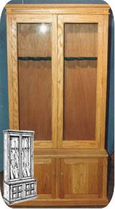 build your own gun cabinet plans for wood furniture on pinterest woodworking plans