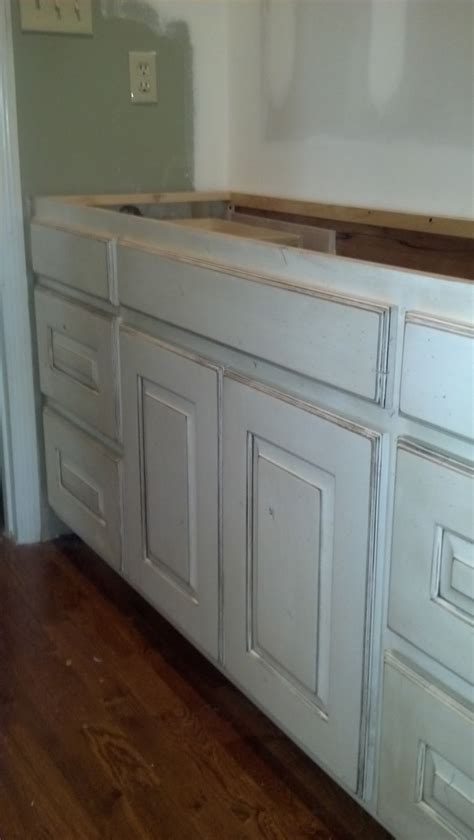adkissons cabinets white painted  distressed knotty