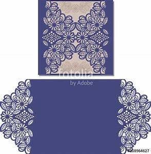 paper cut out card laser pattern for invitation on With wedding invitation sleeve pocket template
