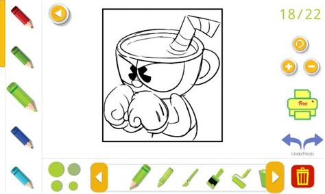 Cuphead Coloring Book For Android