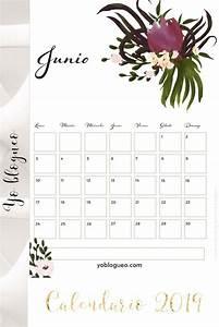 Calendario 2019 Para Colgar En La Pared De Flores