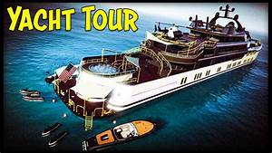 GTA 5 10000000 QuotYACHTquot TOUR All 3 Yachts Customization