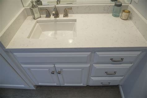 quartz countertop with undermount sink msi cashmere carrara quartz kohler archer undermount sink
