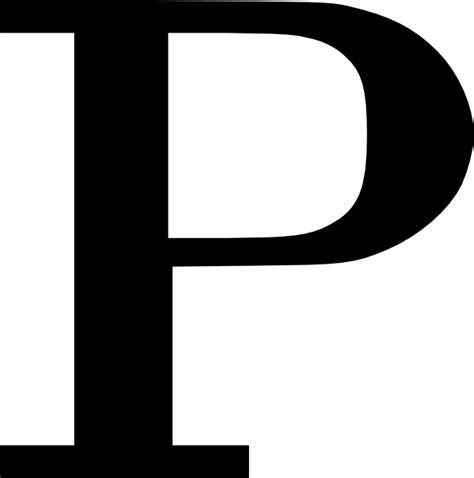 cyrillic letter p clip art  clkercom vector clip art