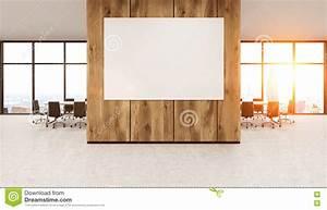 Whiteboard On Wooden Office Wall Stock Illustration ...