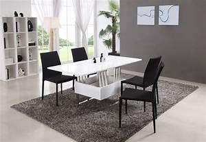 Table Basse Pas Cher : table basse relevable et extensible modulo laqu e blanc table basse ventes pas ~ Teatrodelosmanantiales.com Idées de Décoration