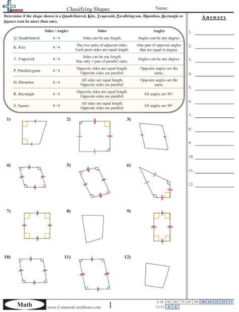 quadrilateral worksheets 3rd grade worksheets for all