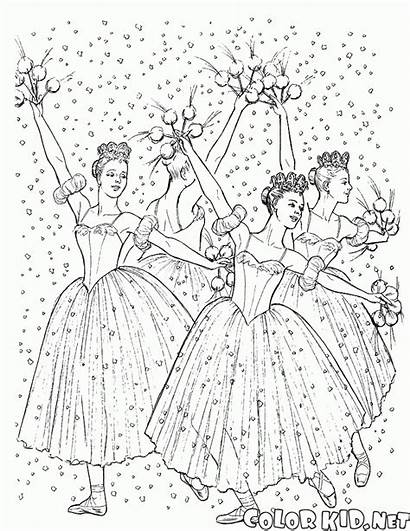 Ballerina Coloring Pages Ballerinas Magnificent Costumes Colorkid