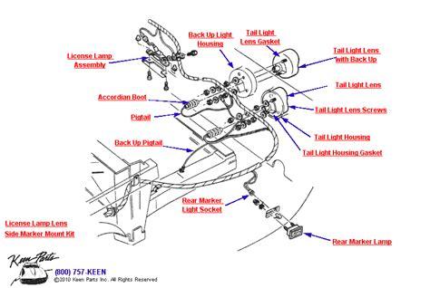 Corvette Rear Marker Tail Lights Parts