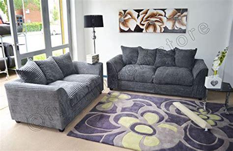 Throwovers For Settees by Byron Grey Fabric Jumbo Cord Sofa Settee 3 2