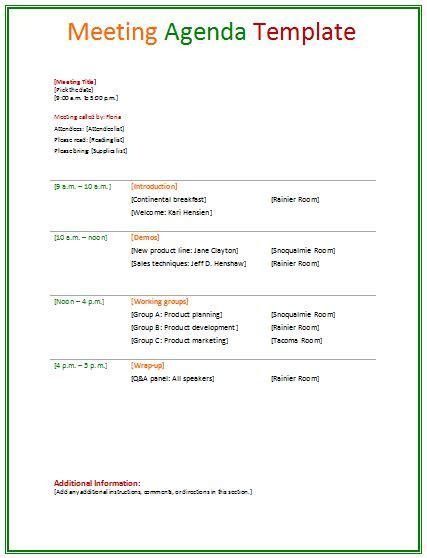 meeting agenda template agenda template meeting agenda
