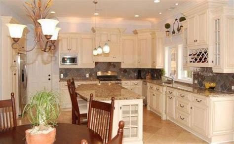 granite for antique white kitchen cabinets smart home