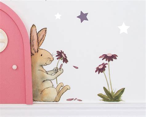 Wandtattoo Kinderzimmer Hase by Wandtattoo Hase Und Blume Deko F 252 R Die Wichtelt 252 R