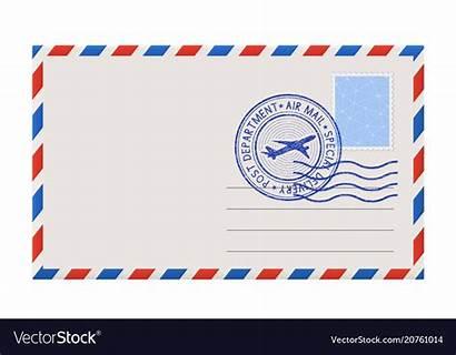 Envelope Stamp Postal Blank Postmark Vector Royalty
