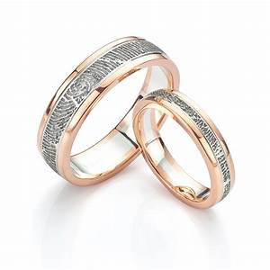 fingerprint wedding rings unique wedding rings in 5 easy With where to get wedding rings